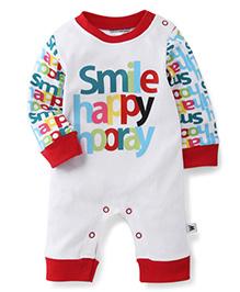 Wonderchild Smile Romper - White & Red