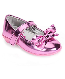 Dora Mary Jane Ballerina Shoes With Bow Applique - Pink