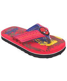 Spider Man Printed Flip Flops - Red