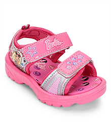 Barbie Printed Sandals - Pink And Grey
