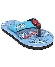 Spider Man Printed Flip Flops - Blue