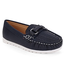 Cute Walk by Babyhug Loafers - Navy Blue