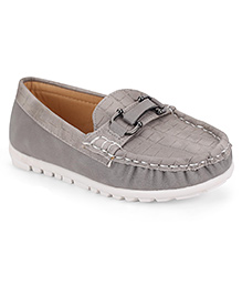 Cute Walk by Babyhug Loafers - Grey