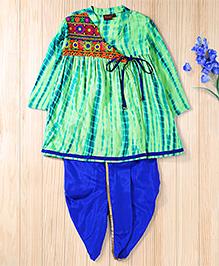 Twisha Traditinal Embroidered Kedia Perfect For Navratri - Green