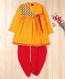 Twisha Traditinal Embroidered Kedia Perfect For Navratri - Yellow