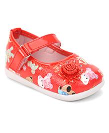 Cute Walk by Babyhug Bellies Floral Applique - Red
