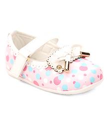 Cute Walk by Babyhug Bellies Bow Design - Light Pink