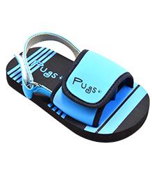 Pugs Flapper Comfy Sandal - Black & Blue