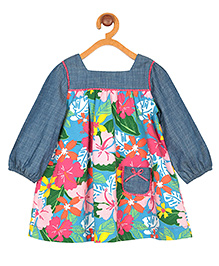 My Lil' Berry Full Sleeves Frock Floral Print - Multi color