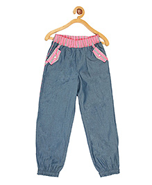 My Lil Berry Full length Leggings - Bluish Grey Pink