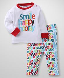 Wonderchild 2 Piece Baby Full Suit - White & Multicolour