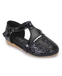 Bash Party Wear Glittery Sandals - Black