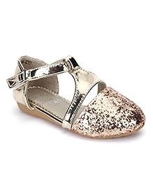 Bash Party Wear Glittery Sandals - Golden
