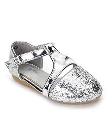 Bash Party Wear Glittery Sandals - Silver