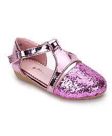 Bash Party Wear Glittery Sandals - Pink