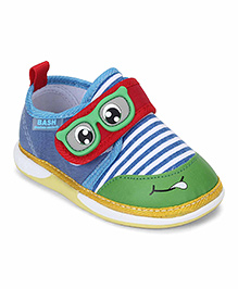 Bash Casual Shoes With Goggle Patch - Blue & Green