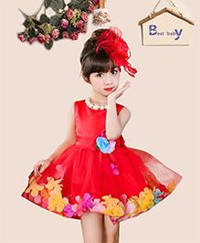 Tickles 4 U Rose Petals Dress - Red