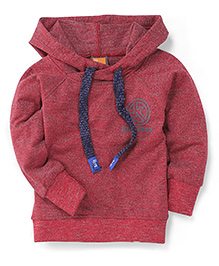 Little Kangaroos Full Sleeves Hooded Sweatshirt - Maroon