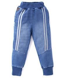 Little Kangaroos Pull On Full Length Denim Jeans - Blue