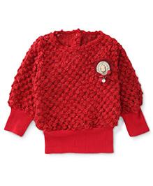 Little Kangaroos Full Sleeves Sweater - Red