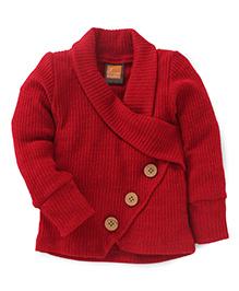 Little Kangaroos Full Sleeves Sweater - Maroon