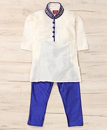 Mukaam Ethnic Kurta Pajama Set - White