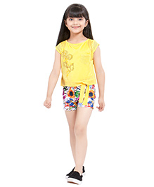 Tiny Baby Shorts With Top & Separate Inner - Lemon Yellow