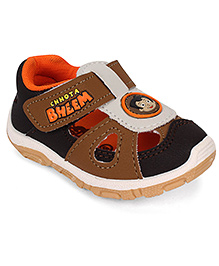 Chhota Bheem Sandals - Brown White Black