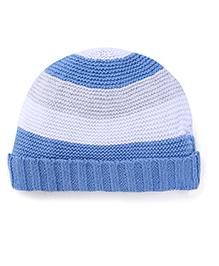 Pumpkin Patch Winter Wear Cap - Blue White