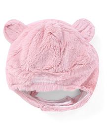 Pumpkin Patch Winter Wear Cap With Ears - Pink