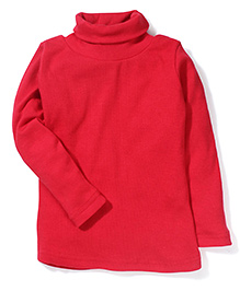Gini & Jony Full Sleeves Solid Colour Top - Red