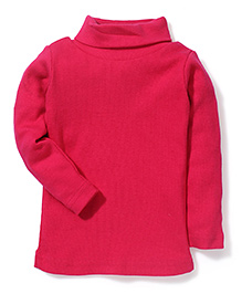 Gini & Jony Full Sleeves Solid Colour Top - Fuchsia