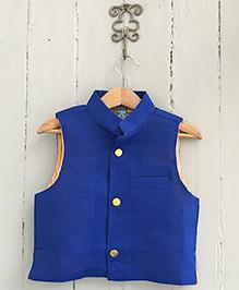 Frangipani Kids Jacket With Front Button - Royal Blue