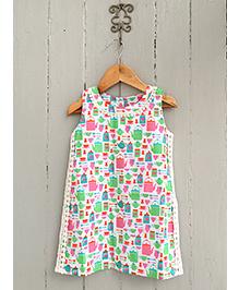 Frangipani Kids English Tea Print Dress - Multicolour