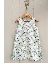 Frangipani Kids Cherry Blossom Print Dress - Blue