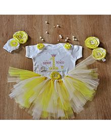 TU Ti TU Little Miss Sunshine First Birthday Tutu Outfit - Yellow