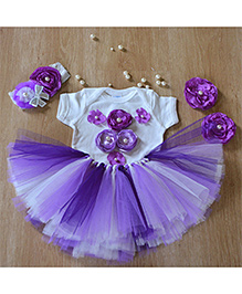 TU Ti TU Fairy Birthday Tutu Outfit - Purple