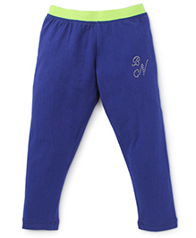 Button Noses Full Length Pant Solid Color - Royal Blue