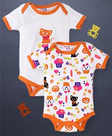Kidi Wav 2 Piece Body Suits - Orange