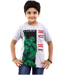 Marvel Half Sleeves T-Shirt Hulk Print - Grey