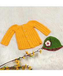 The Original Knit Sweater & Cap - Yellow & Green