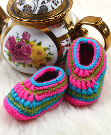 The Original Knit Exquisite Booties - Multicolour