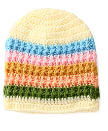 Buttercup From KnittingNani Textured Cap - Multicolour