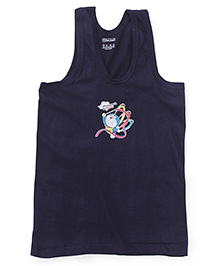 Doraemon Sleeveless Printed Vest - Navy Blue