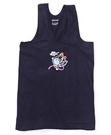 Doraemon Sleevless Printed Vest - Navy Blue