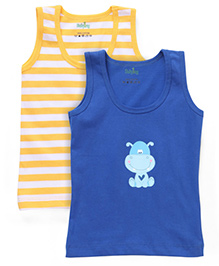 Babyhug Sleeveless Vest Set of 2 - Yellow Blue
