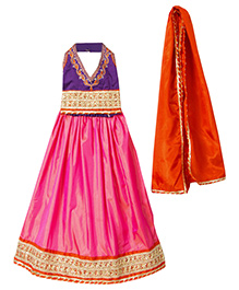 Bunchi Designer Lehenga Choli Set - Purple & Pink
