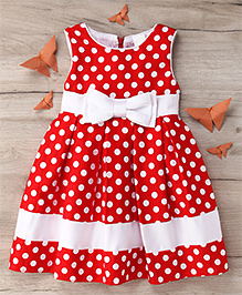 Party Princess Polka Dot Print Dress - Red