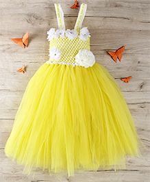 Party Princess Double Layered Party Dress - Yellow