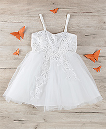 Party Princess Party Dress With Sequence - White